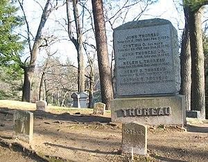 English: The Thoreau family gravesite in Sleep...
