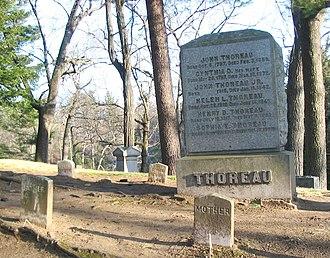 Sleepy Hollow Cemetery (Concord, Massachusetts) - Thoreau family plot in Sleepy Hollow Cemetery