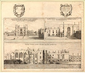 Order of Saint John (chartered 1888) - Priory of St John at Clerkenwell, London in 1661, by Wenceslaus Hollar