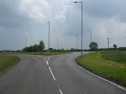 Threekingham Bar roundabout, heading North, by Glyn Drury Threekingham-Bar-by-Glyn-Drury.jpg
