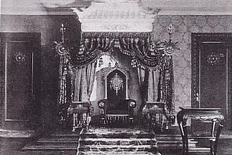 Manchukuo - The throne of the emperor in Manchukuo, c. 1937