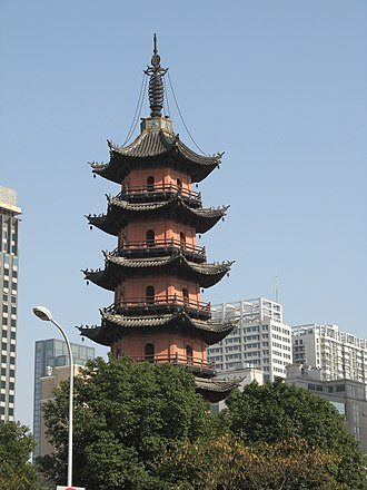 Ningbo - Tianfeng Tower, originally built in Tang Dynasty, is the symbol of old Ningbo.