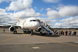 Tiger Airlines loading at Canberra.jpg