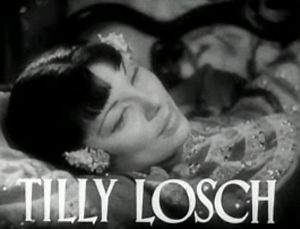 Tilly Losch - Losch pictured in the trailer for the film The Good Earth (1937).