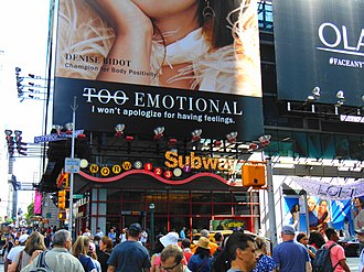 Transportation in New York City - Entrance to the Times Square – 42nd Street station on 7th Avenue.