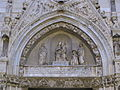Tino di camaino, lunetta centrale del duomo di napoli, con santi e cardinale di antonio baboccio, 03.JPG