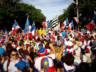 Caraquet - The Tintamarre on National Acadian Day in Caraquet