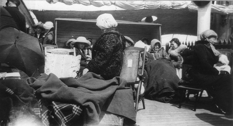 File:Titanic survivors on the Carpathia, 1912.jpg