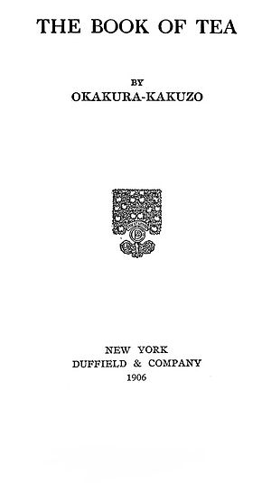 The Book of Tea - Title page of the American edition of The Book of Tea