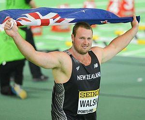 Tomas Walsh - Tomas Walsh after winning gold at the 2016 World Indoor Championships