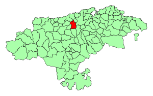 Location of the Municipality of Torrelavega