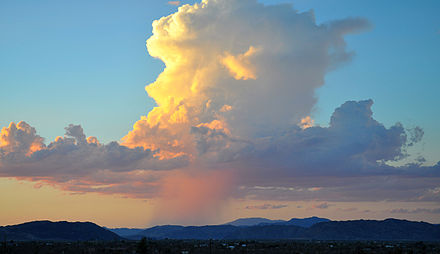 Isolated towering vertical desert shower Towering Verticle Thunderhead.jpg