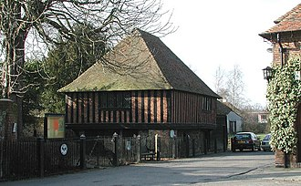 Seat of local government - 16th-century town hall in Fordwich, Kent, England, closely resembling a market hall in its design