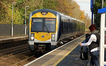 Train, Dunmurry station – The 11.27 Bangor – P...