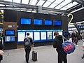 Train schedule displays at Tikkurila railway station.jpg