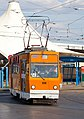 Tram in Sofia in front of Central Railway Station 2012 PD 017.jpg