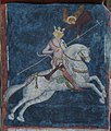 Trinity Chapel in Lublin - North wall choir - The equestrian image of King Władysław Jagiełło.jpg