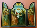Triptych with St. Anne, the Virgin, and the Christ Child, by the Master of Frankfurt, c. 1515, pine wood - Bode-Museum - DSC03146.JPG