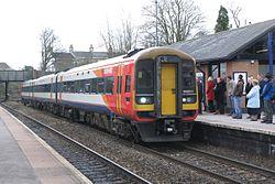 Trowbridge - SWT 159021 Bristol train.JPG