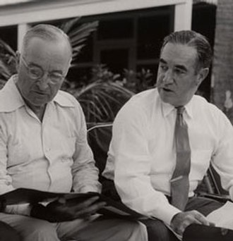 Frederick Lawton - Lawton (right) with Harry S. Truman