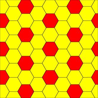 Hexagonal tiling - Image: Truncated rhombille tiling