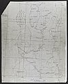 100px turkana. sketch map of route in   war office ledger %28womat afr bea 279%29