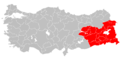 Turkish provinces with Kurdish majorities highlighted.png