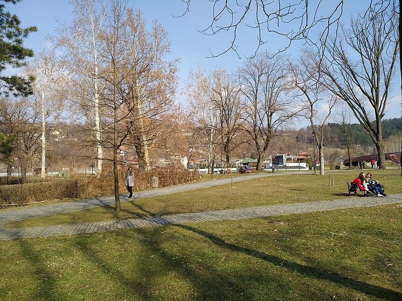 Central park in Tuzla, Bosnia and Herzegovina.