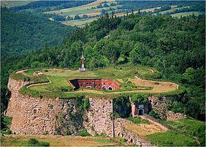 Fort Srebrna Góra - Aerial view of the fort