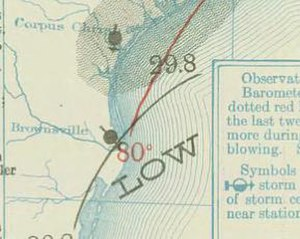 1910 Atlantic hurricane season - Image: Two 1910 09 29 weather map