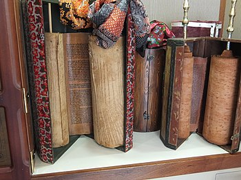 Yemenite Torah scrolls