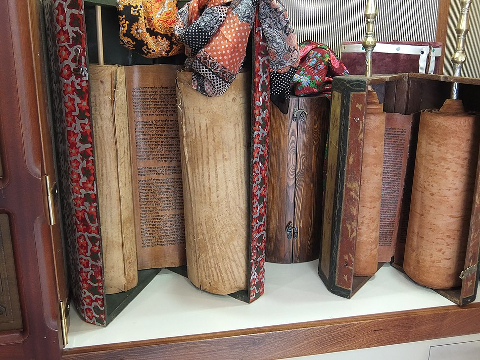Two Torah scrolls