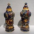 Two covered vases, Theodorus A. Chr. Colenbrander, Haagsche Plateelbakkerij, Rozenburg, Den Haag, 1886, certamic - Hessisches Landesmuseum Darmstadt - Darmstadt, Germany - DSC00833.jpg