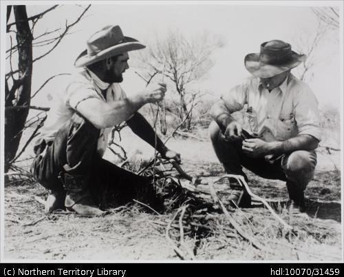 Two stockmen at Brunette Downs