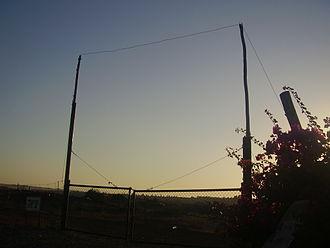 Eruv - A gate in the eruv of Avnei Eitan, Golan Heights.