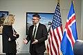 U.S. Acting Deputy Defense Secretary Christine H. Fox hosts a meeting with Gunnar Bragi Sveinsson, Icelandic foreign affairs minister, at the Pentagon, April 11, 2014 140411-M-EV637-190.jpg