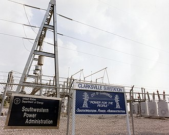 Southwestern Power Administration - SWPA substation in Clarksville, Arkansas.
