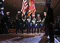 U.S. Marine Corps color guard, assigned to Marine Forces Reserve (MARFORRES), retires the colors during the MARFORRES and Marine Forces North celebration of the 238th U.S Marine Corps birthday ball at 131117-M-IJ438-218.jpg