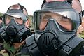 U.S. Marines, of III Marine Expeditionary Force, participate in chemical, biological, radiological and nuclear (CBRN) training where Marines conduct a series of tests while wearing their protective gear before 111222-M-LY681-015.jpg