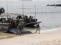 U.S. Marines and Senegalese service members secure a beach while conducting an amphibious landing during Africa Partnership Station (APS) 2013 in Senegal Sept 130914-N-ZZ999-001.jpg