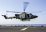 UK Army Air Corps Westland Lynx XZ670 landing on USS Kearsarge (9800920835).jpg