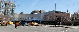 The United Nations General Assembly building.