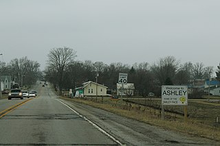 Ashley, Indiana Town in Indiana, United States
