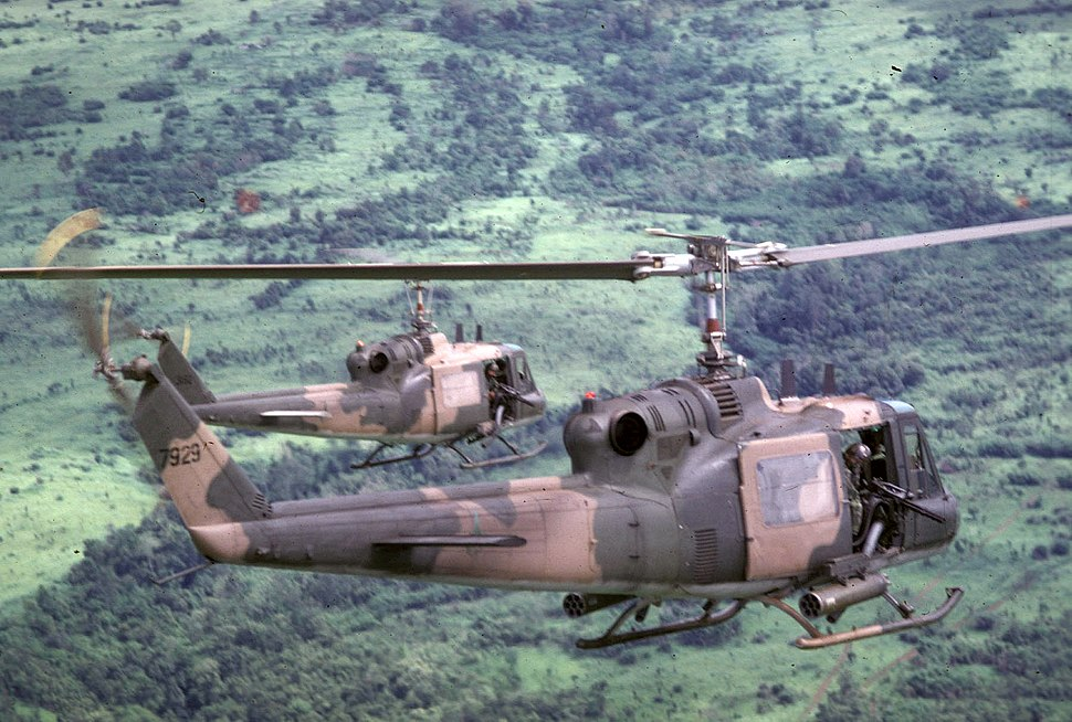 USAF UH-1Ps over Cambodia