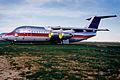 USAir BAe 146-200; N179US@MHV, March 1995 ASE (4993147810).jpg
