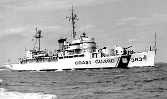 USS Castle Rock (AVP-35) - USCGC Castle Rock (WHEC-383) on 1 May 1969.
