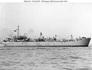 USS Egeria (ARL-8) - Image: USS Egeria (ARL 8)