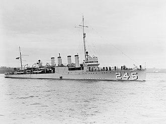 USS Reuben James (DD-245) - Image: USS Reuben James (DD 245) on 29 April 1939