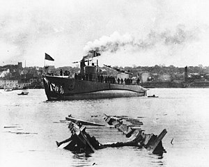 USS Shark just after being launched