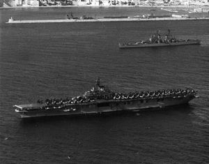 USS Tarawa (CV-40) and USS Macon (CA-132) at anchor in the Med c1952.jpeg
